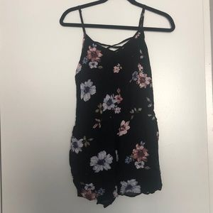Garage floral romper size small